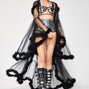 Lady Luxx Feather Robe